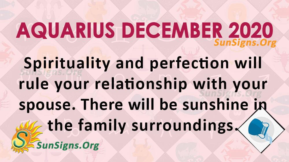 Aquarius December 2020 Horoscope
