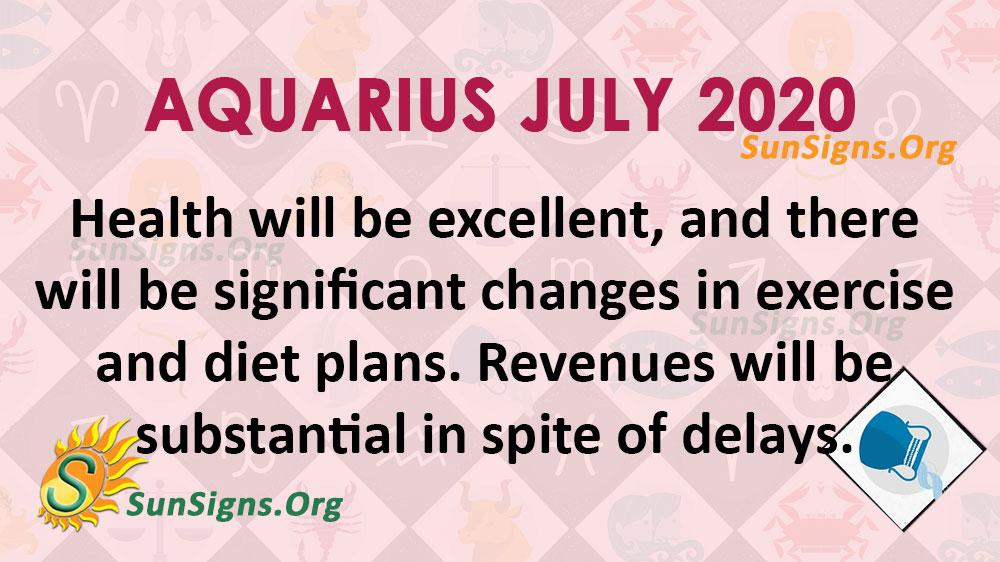 Aquarius July 2020 Horoscope