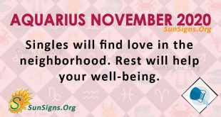 Aquarius November 2020 Horoscope