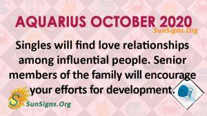 Aquarius October 2020 Horoscope