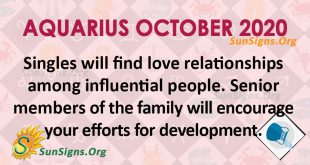Aquarius October 2020 Horoscope