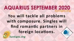 Aquarius September 2020 Horoscope