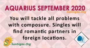 Aquarius September 2020 Horoscope