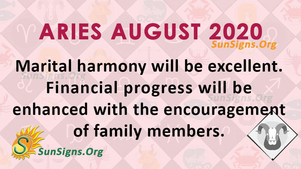 Aries August 2020 Horoscope