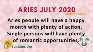 Aries July 2020 Horoscope