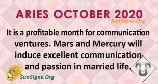 Aries October 2020 Horoscope