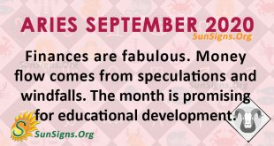 Aries September 2020 Horoscope