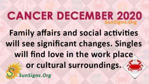 Cancer December 2020 Horoscope