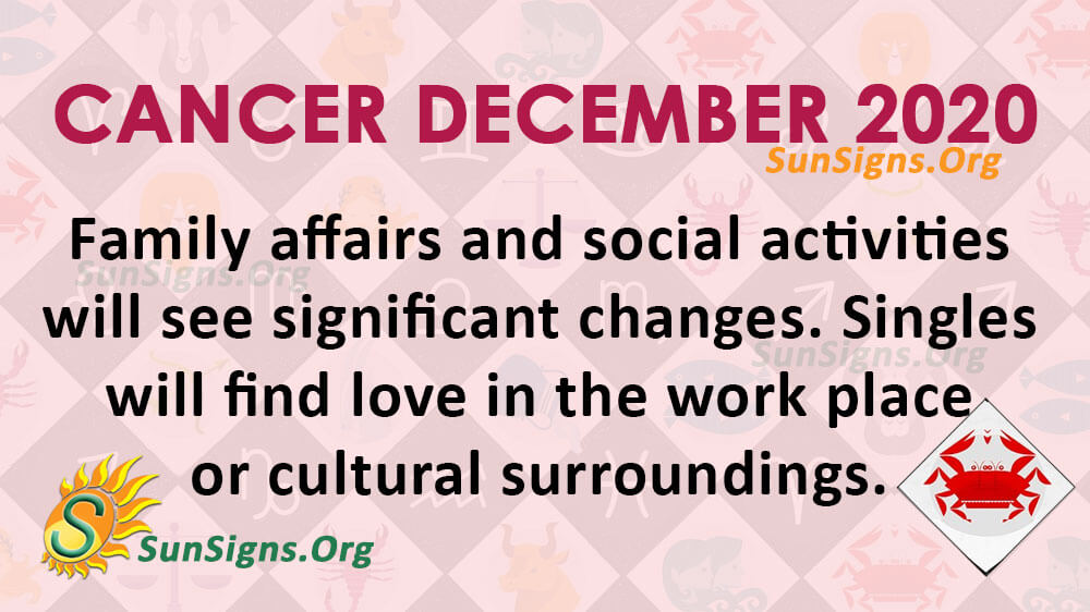 Cancer December 2020 Horoscope
