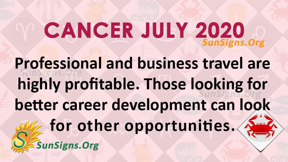 Cancer July 2020 Horoscope