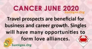 Cancer June 2020 Horoscope