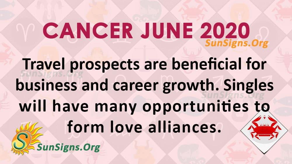Cancer June 2020 Horoscope
