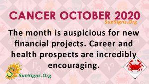 Cancer October 2020 Horoscope