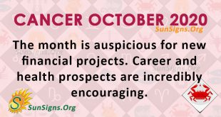 Cancer October 2020 Horoscope