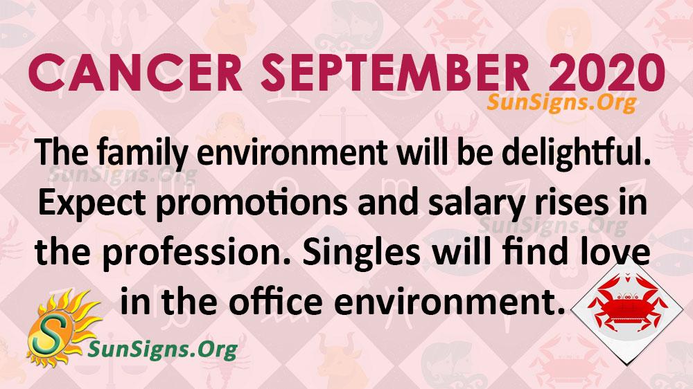 Cancer September 2020 Horoscope