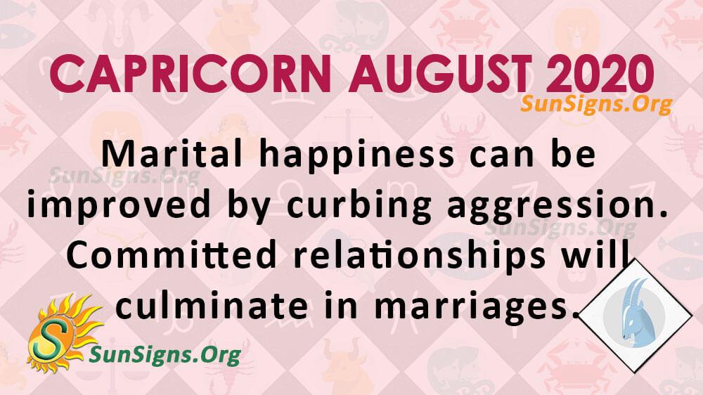 Capricorn August 2020 Horoscope