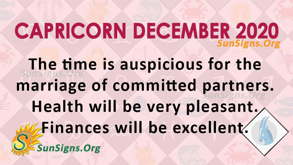 Capricorn December 2020 Horoscope
