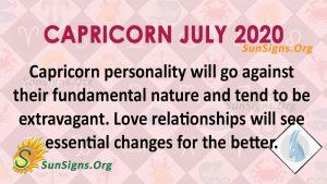 Capricorn July 2020 Horoscope