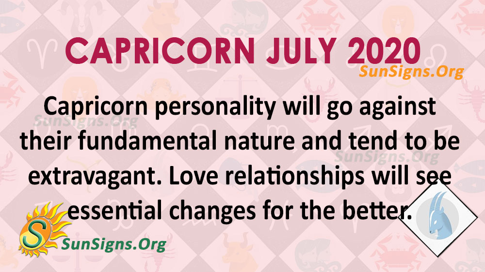 Capricorn July 2020 Horoscope