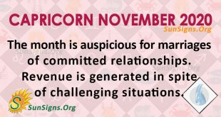 Capricorn November 2020 Horoscope