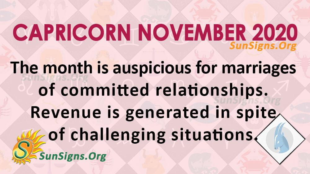 Capricorn November 2020 Horoscope