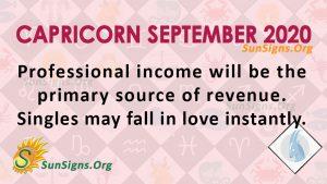 Capricorn September 2020 Horoscope