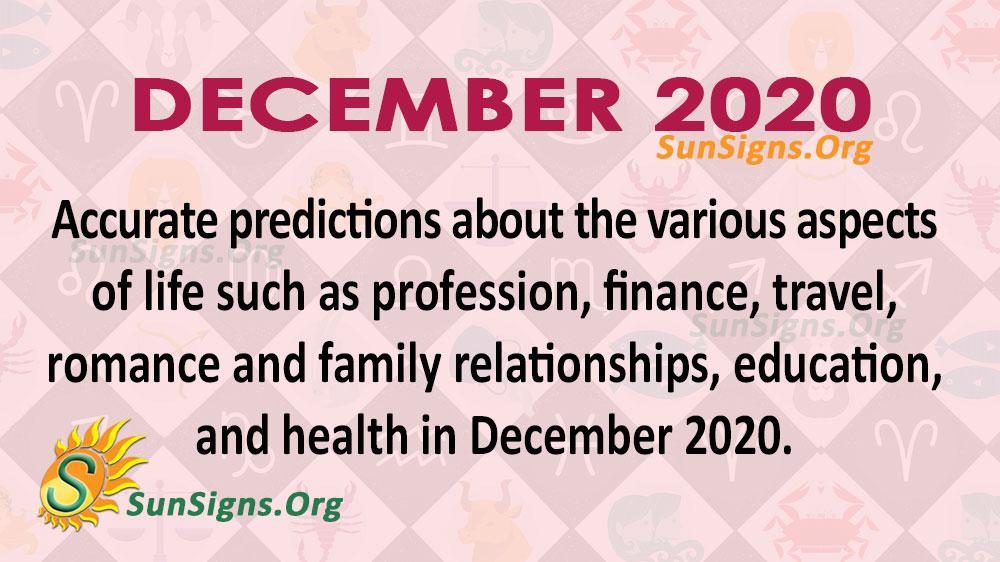 December 2020 Horoscope