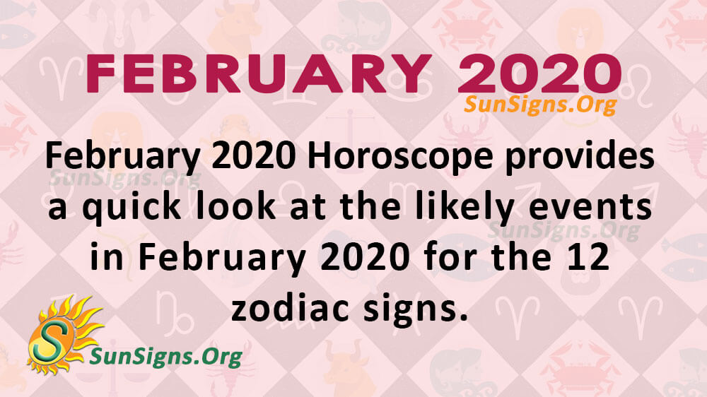 February 2020 horoscope