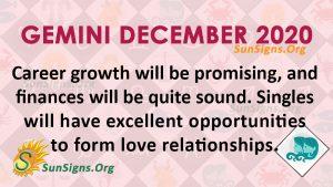 Gemini December 2020 Horoscope