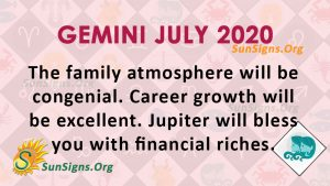 Gemini July 2020 Horoscope