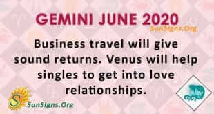 Gemini June 2020 Horoscope