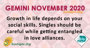 Gemini November 2020 Horoscope