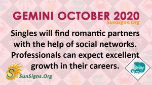 Gemini October 2020 Horoscope