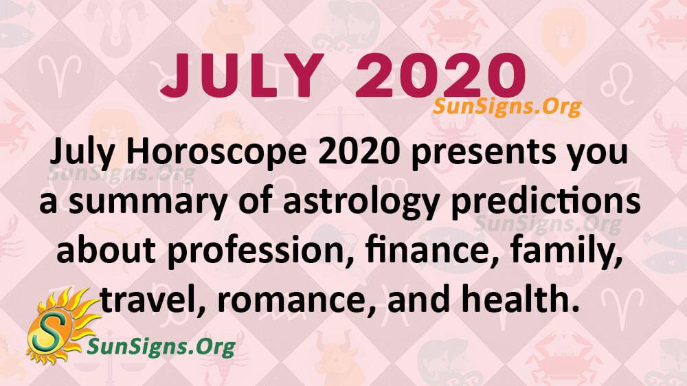July 2020 Horoscope