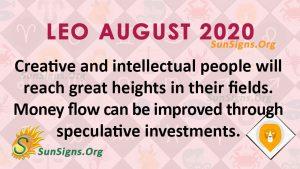 Leo August 2020 Horoscope