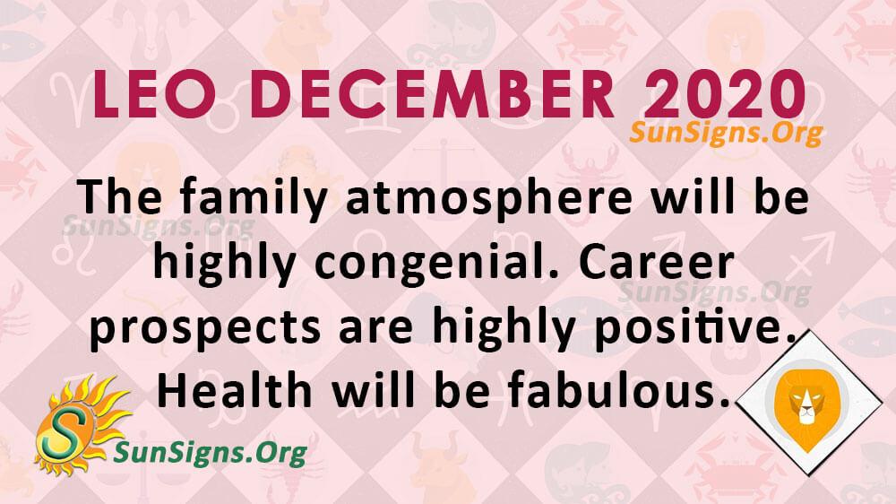 Leo December 2020 Horoscope