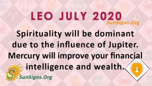 Leo July 2020 Horoscope
