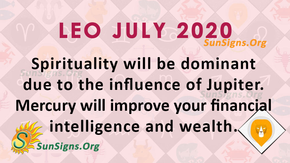 Leo July 2020 Horoscope