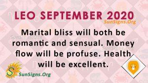 Leo September 2020 Horoscope