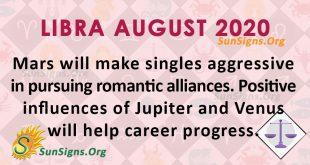 Libra August 2020 Horoscope