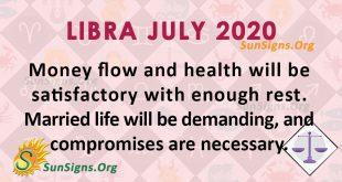 Libra July 2020 Horoscope