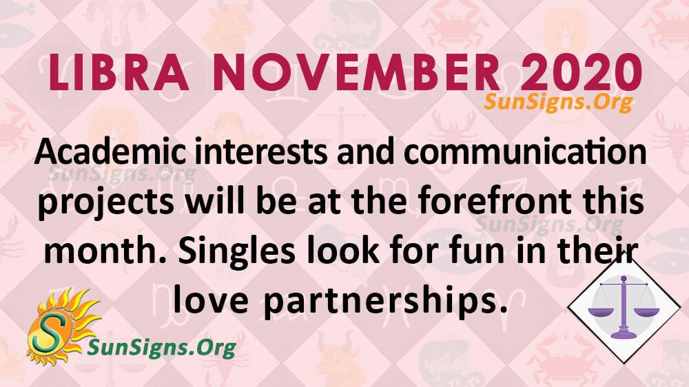 Libra November 2020 Horoscope