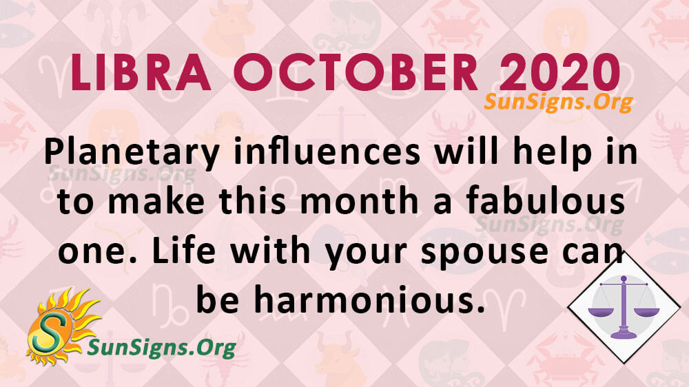 Libra October 2020 Horoscope