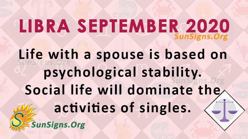 Libra September 2020 Horoscope