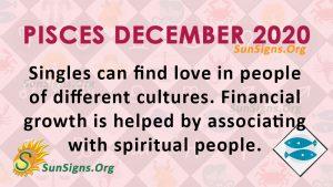 Pisces December 2020 Horoscope