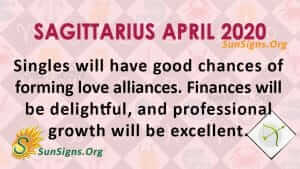 Sagittarius April 2020 Horoscope