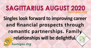 Sagittarius August 2020 Horoscope