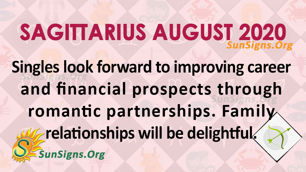 Sagittarius August 2020 Horoscope