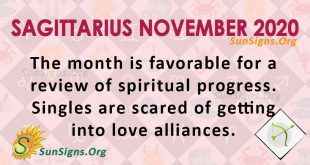 Sagittarius November 2020 Horoscope
