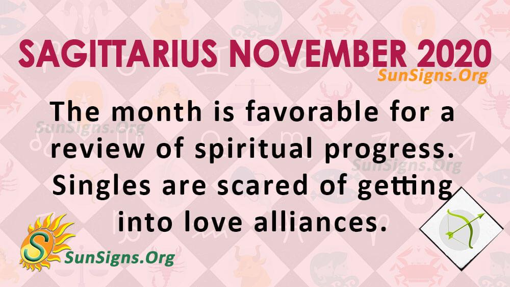 Sagittarius November 2020 Horoscope